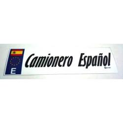 Pegatinas Camionero Español