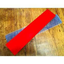 Acrílica roja larga para remolque