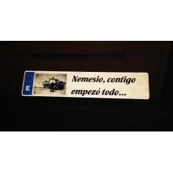 Placa de matrícula acrílica personalizada