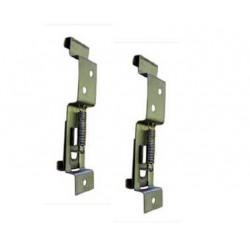 Portamatrículas clip rápido metalico
