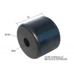 Tope de goma con casquillo metálico interior