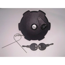 Tapón de combustible negro con llave Ø 80 mm