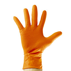 Guantes de nitrilo Lion naranja